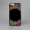 The Vector Colored Aztec Pattern WIth Black Connect Point Skin-Sert Case for the Apple iPhone 6 Plus