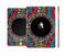The Vector Colored Aztec Pattern WIth Black Connect Point Full Body Skin Set for the Apple iPad Mini 3
