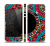 The Vector Colored Aztec Pattern WIth Black Connect Point Skin Set for the Apple iPhone 5s