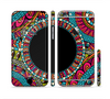 The Vector Colored Aztec Pattern WIth Black Connect Point Sectioned Skin Series for the Apple iPhone 6 Plus