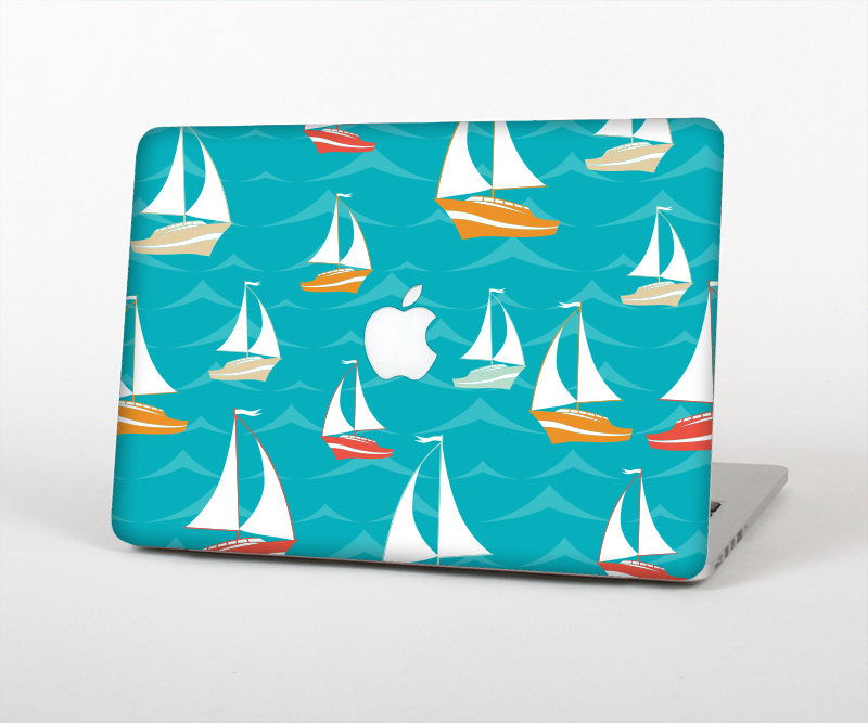 "The Vector Colored Sailboats Skin Set for the Apple MacBook Pro 15"" with Retina Display"