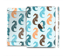 The Vector Colored Seahorses V1 Full Body Skin Set for the Apple iPad Mini 3