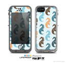 The Vector Colored Seahorses V1 Skin for the Apple iPhone 5c LifeProof Case