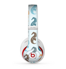 The Vector Colored Seahorses V1 Skin for the Beats by Dre Studio (2013+ Version) Headphones