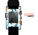 The Vector Colored Seahorses V1 Skin for the Pebble SmartWatch