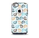 The Vector Colored Seashells V1 Skin for the iPhone 5c OtterBox Commuter Case