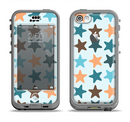 The Vector Colored Starfish V1 Apple iPhone 5c LifeProof Nuud Case Skin Set