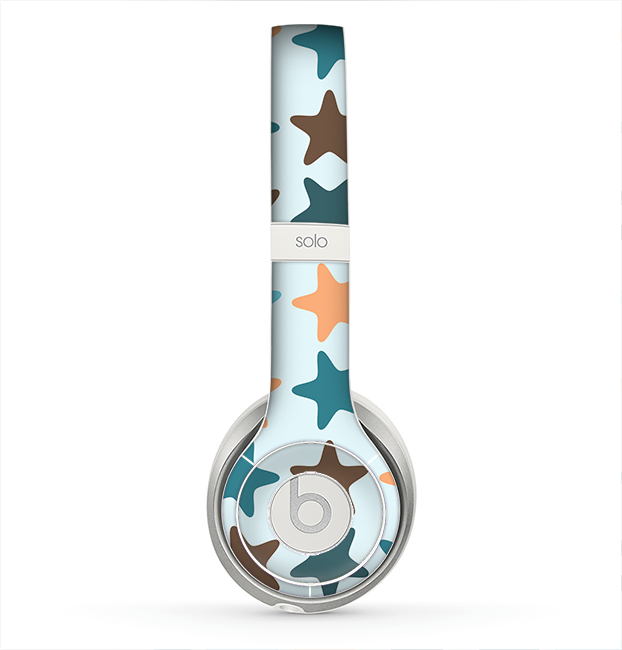 The Vector Colored Starfish V1 Skin for the Beats by Dre Solo 2 Headphones