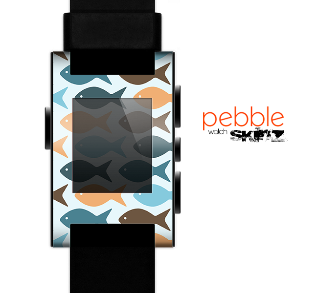 The Vector Fishies V1 Skin for the Pebble SmartWatch