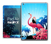 The Vector Flamingo Paradise Skin for the iPad Air