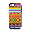 The Vector Gold & Purple Aztec Pattern V32 Apple iPhone 5-5s Otterbox Symmetry Case Skin Set
