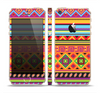 The Vector Gold & Purple Aztec Pattern V32 Skin Set for the Apple iPhone 5s