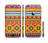 The Vector Gold & Purple Aztec Pattern V32 Sectioned Skin Series for the Apple iPhone 6