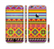 The Vector Gold & Purple Aztec Pattern V32 Sectioned Skin Series for the Apple iPhone 6 Plus