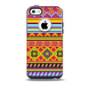 The Vector Gold & Purple Aztec Pattern V32 Skin for the iPhone 5c OtterBox Commuter Case