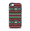 The Vector Green & Pink Aztec Pattern Apple iPhone 5-5s Otterbox Symmetry Case Skin Set