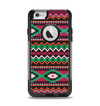 The Vector Green & Pink Aztec Pattern Apple iPhone 6 Otterbox Commuter Case Skin Set