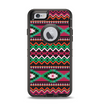 The Vector Green & Pink Aztec Pattern Apple iPhone 6 Otterbox Defender Case Skin Set