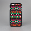 The Vector Green & Pink Aztec Pattern Skin-Sert Case for the Apple iPhone 6 Plus