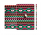 The Vector Green & Pink Aztec Pattern Full Body Skin Set for the Apple iPad Mini 3