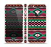 The Vector Green & Pink Aztec Pattern Skin Set for the Apple iPhone 5s