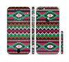 The Vector Green & Pink Aztec Pattern Sectioned Skin Series for the Apple iPhone 6