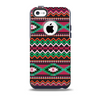 The Vector Green & Pink Aztec Pattern Skin for the iPhone 5c OtterBox Commuter Case