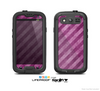 The Vector Grunge Purple Striped Skin For The Samsung Galaxy S3 LifeProof Case