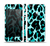 The Vector Hot Turquoise Cheetah Print Skin Set for the Apple iPhone 5