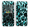 The Vector Hot Turquoise Cheetah Print Skin for the Apple iPhone 5c