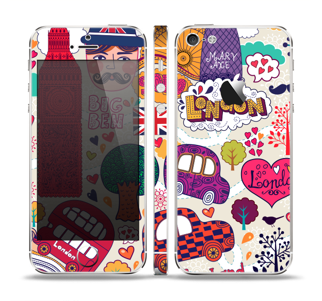 The Vector London England Sketchbook Skin Set for the Apple iPhone 5