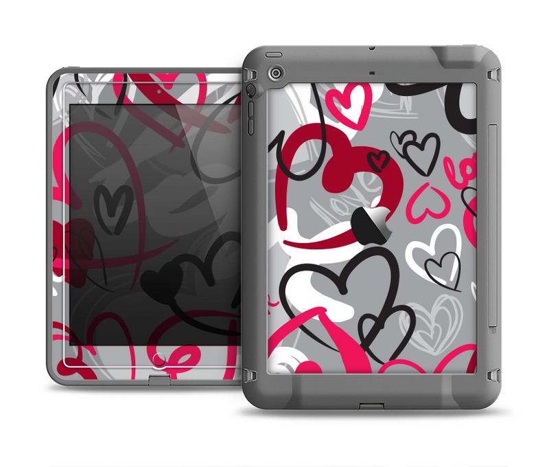 The Vector Love Hearts Collage Apple iPad Air LifeProof Fre Case Skin Set