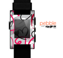 The Vector Love Hearts Collage Skin for the Pebble SmartWatch