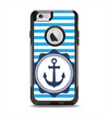 The Vector Navy Anchor with Blue Stripes Apple iPhone 6 Otterbox Commuter Case Skin Set