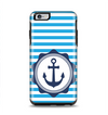 The Vector Navy Anchor with Blue Stripes Apple iPhone 6 Plus Otterbox Symmetry Case Skin Set