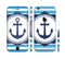 The Vector Navy Anchor with Blue Stripes Sectioned Skin Series for the Apple iPhone 6
