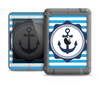 The Vector Navy Anchor with Blue Stripes Apple iPad Air LifeProof Fre Case Skin Set