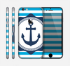 The Vector Navy Anchor with Blue Stripes Skin for the Apple iPhone 6