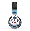 The Vector Navy Anchor with Blue Stripes Skin for the Beats by Dre Pro Headphones