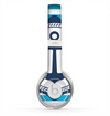 The Vector Navy Anchor with Blue Stripes Skin for the Beats by Dre Solo 2 Headphones