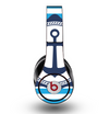 The Vector Navy Anchor with Blue Stripes Skin for the Original Beats by Dre Studio Headphones