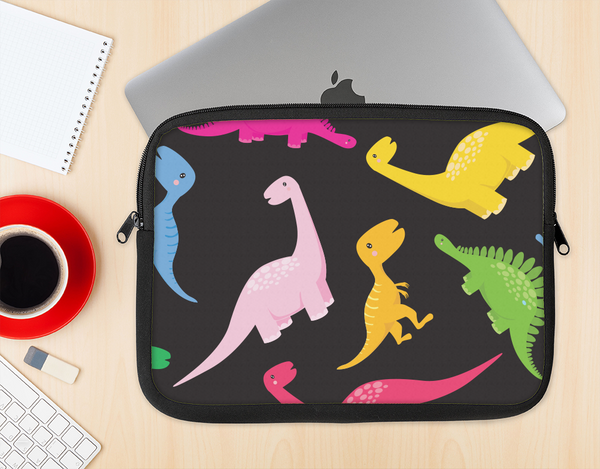 The Vector Neon Dinosaur Ink-Fuzed NeoPrene MacBook Laptop Sleeve