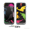 The Vector Neon Dinosaur Skin for the Apple iPhone 5c LifeProof Case