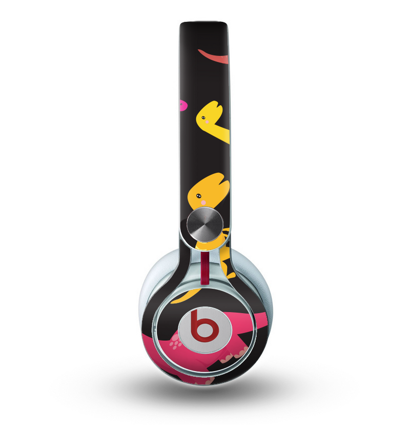 The Vector Neon Dinosaur Skin For The Beats By Dre Mixr Headphones Designskinz