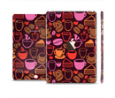 The Vector Orange & Pink Coffee Time Full Body Skin Set for the Apple iPad Mini 3