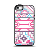 The Vector Pink & White Modern Aztec Pattern Apple iPhone 5-5s Otterbox Symmetry Case Skin Set