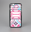 The Vector Pink & White Modern Aztec Pattern Skin-Sert Case for the Apple iPhone 6 Plus