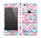The Vector Pink & White Modern Aztec Pattern Skin Set for the Apple iPhone 5