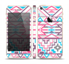 The Vector Pink & White Modern Aztec Pattern Skin Set for the Apple iPhone 5s
