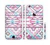 The Vector Pink & White Modern Aztec Pattern Sectioned Skin Series for the Apple iPhone 6